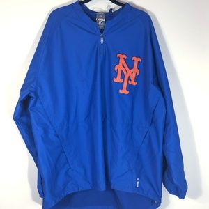 Majestic NY Mets 1/4 Zip Long Sleeve Pullover